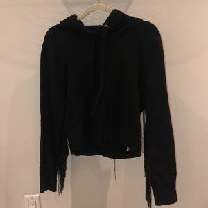 ZARA fringe black hoodie